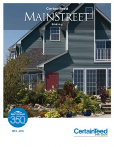 mainstreet siding brochure