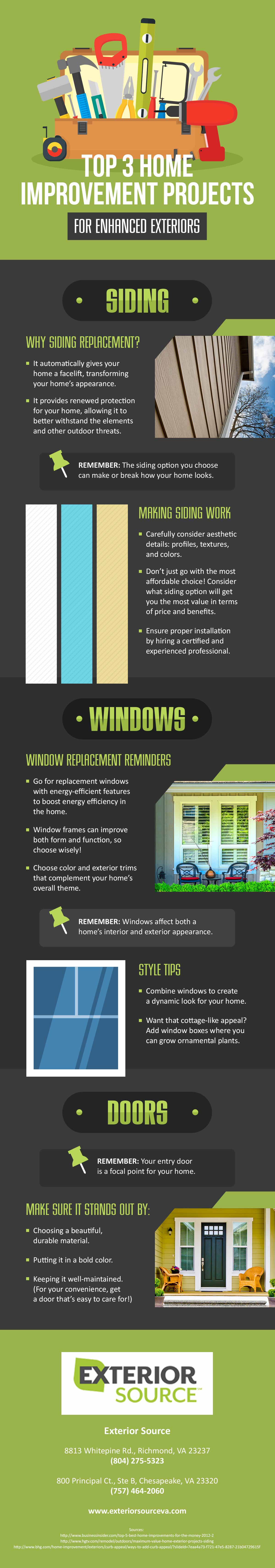 Infograhic Top 3 Best Home Improvement Projects For