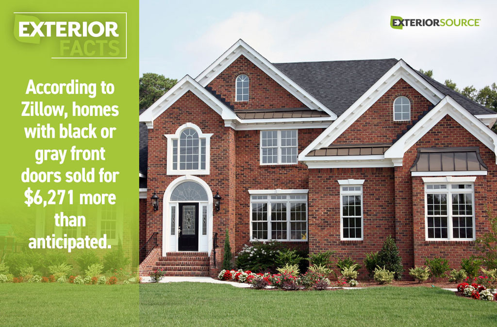 Homes With Black Or Gray Front Doors Sold For More
