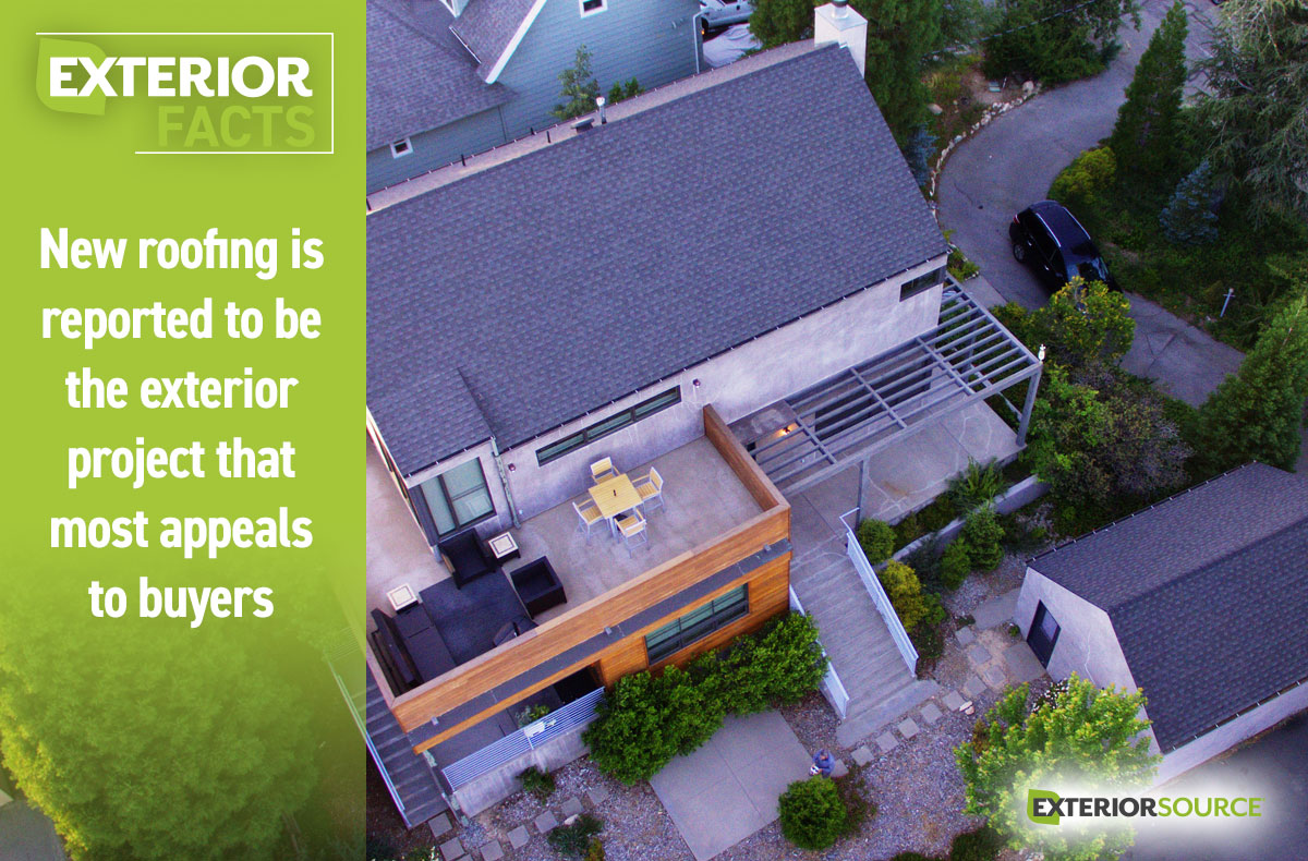 A New Roof Is The Most Appealing To Home Buyers Exterior