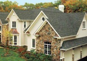 Stunning asphalt shingle roof on a luxurious home