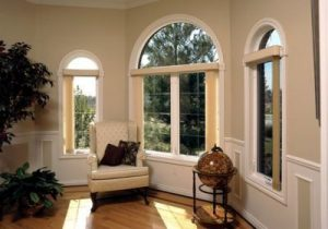 Interior view of attractive vinyl windows classing up a home